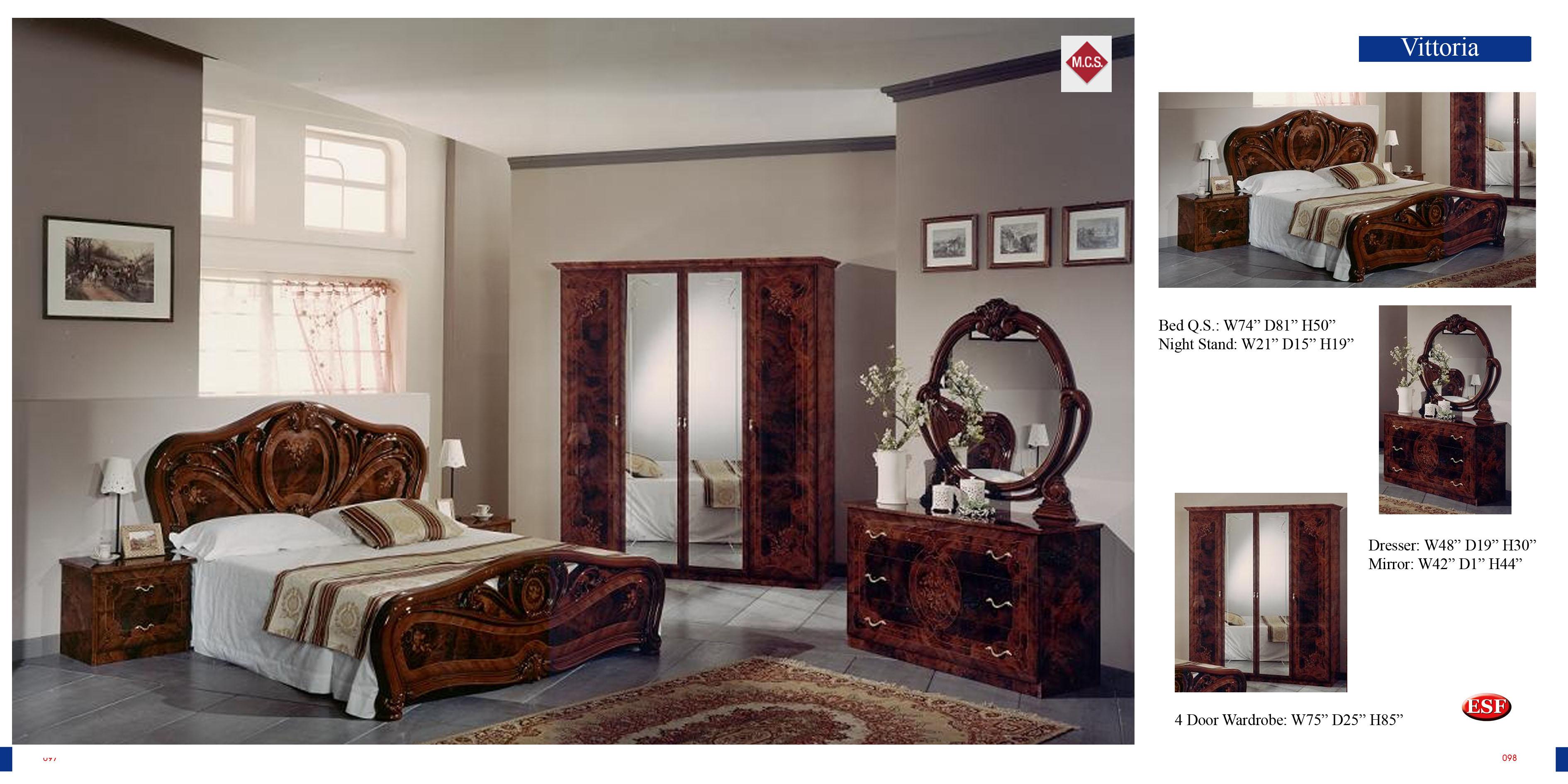 leonardo italian classic bedroom collection
