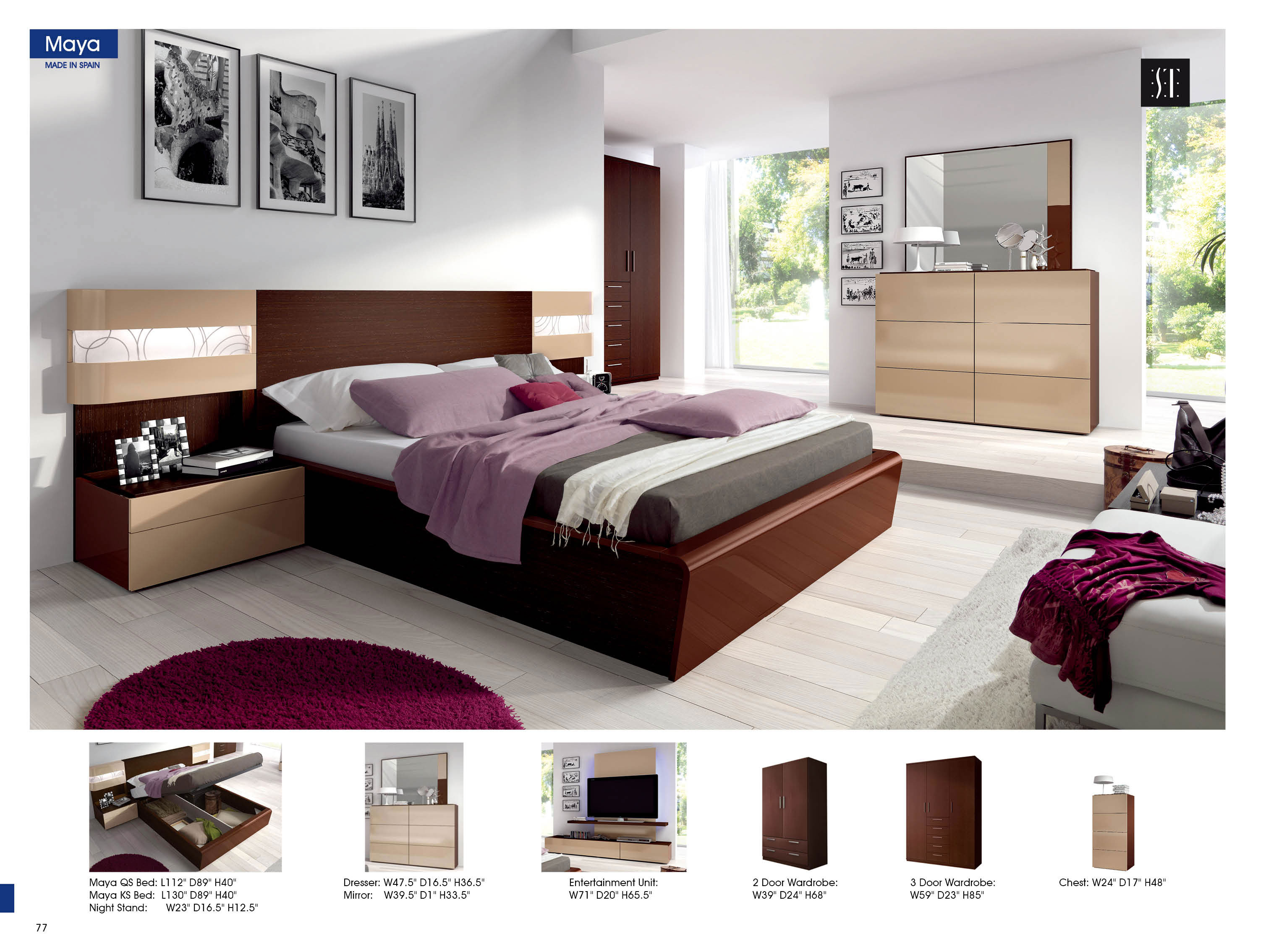 Maya, Modern Bedrooms, Bedroom Furniture