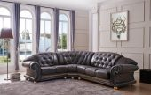 Living Room Furniture Leather Sectionals Apolo Sectional Brown
