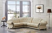 Living Room Furniture Leather Sectionals Apolo Sectional Ivory